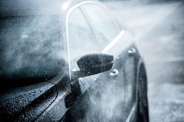 bil i frostvejr